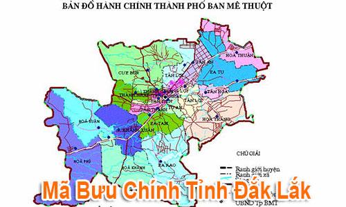Thông tin Mã Bưu chính Bưu điện Zip Code Đắk Lắk mới nhất