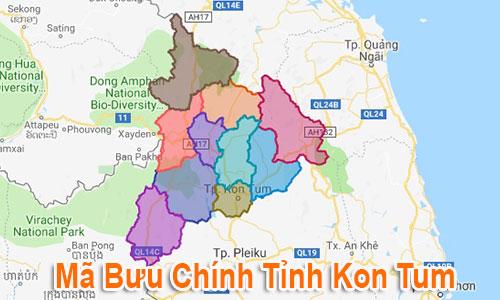 Thông tin Mã Bưu chính Bưu điện Zip Code Kon Tum mới nhất