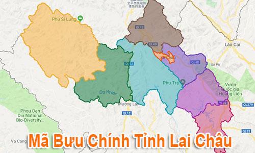 Thông tin Mã Bưu chính Bưu điện Zip Code Lai Châu mới nhất