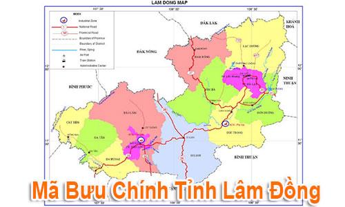 Thông tin Mã Bưu chính Bưu điện Zip Code Lâm Đồng mới nhất