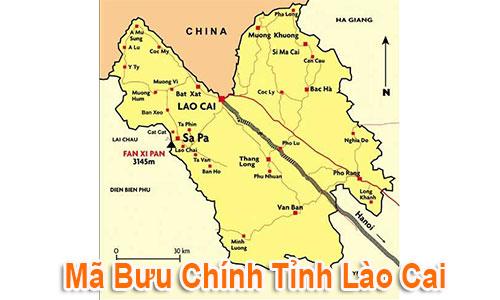 Thông tin Mã Bưu chính Bưu điện Zip Code Lào Cai mới nhất