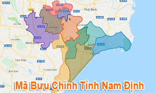 Thông tin Mã Bưu chính Bưu điện Zip Code Nam Định mới nhất
