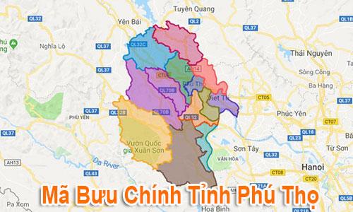 Thông tin Mã Bưu chính Bưu điện Zip Code Phú Thọ mới nhất