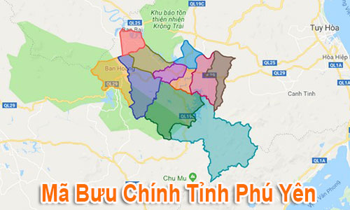 Thông tin Mã Bưu chính Bưu điện Zip Code Phú Yên mới nhất