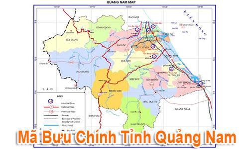 Thông tin Mã Bưu chính Bưu điện Zip Code Quảng Nam mới nhất