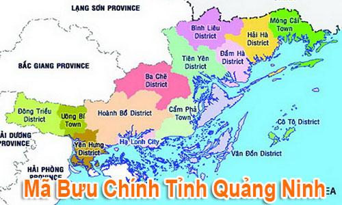 Thông tin Mã Bưu chính Bưu điện Zip Code Quảng Ninh mới nhất