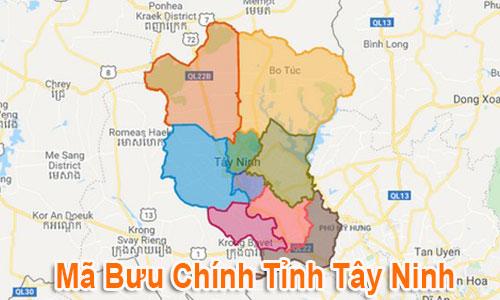 Thông tin Mã Bưu chính Bưu điện Zip Code Tây Ninh mới nhất