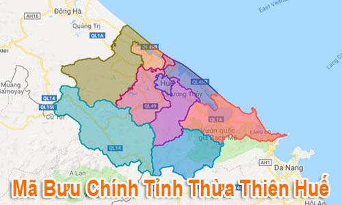Thông tin Mã Bưu chính Bưu điện Zip Code Thừa Thiên Huế mới nhất