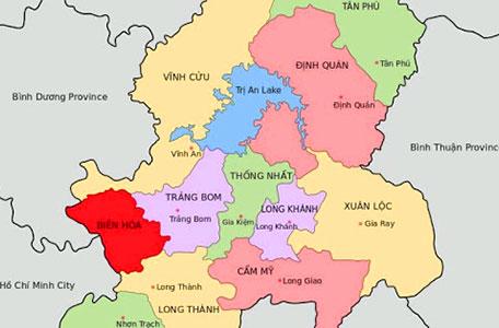 Bảng đồ Biên Hòa Đồng Nai Mới Nhất