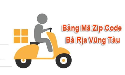 Thông tin bộ Mã Bưu chính - Zip Postal Code Bà Rịa Vũng Tàu