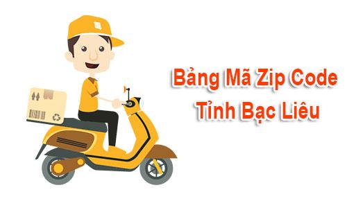 Thông tin bộ Mã Bưu chính - Zip Postal Code Bạc Liêu mới nhất