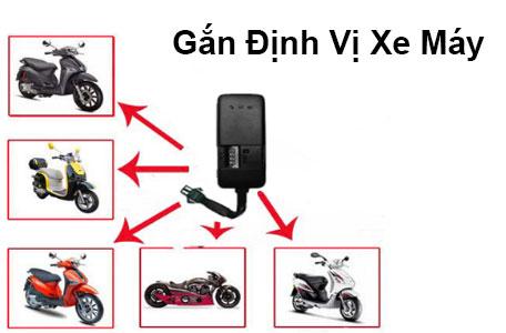 Gắn định vị xe máy nhỏ gọn kết nối Định Vị chuẩn xác
